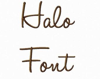 Halo Machine Embroidery Font Monogram Alphabet - 3 Sizes