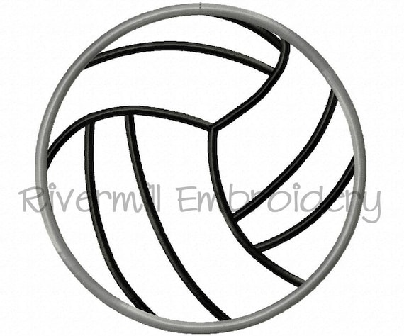 Volleyball Embroidery Designs Machine Embroidery Designs