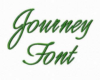 Journey Script Machine Embroidery Font Monogram Alphabet - 3 Sizes