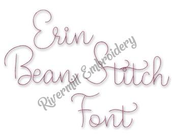 Erin Vintage Bean Stitch Machine Embroidery Font Monogram Alphabet - 3 Sizes