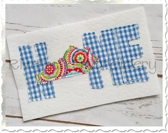 Raggy Applique Kentucky Home Machine Embroidery Design - 4 Sizes