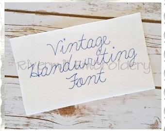 Vintage Handwriting Machine Embroidery Font Monogram Alphabet - 3 Sizes