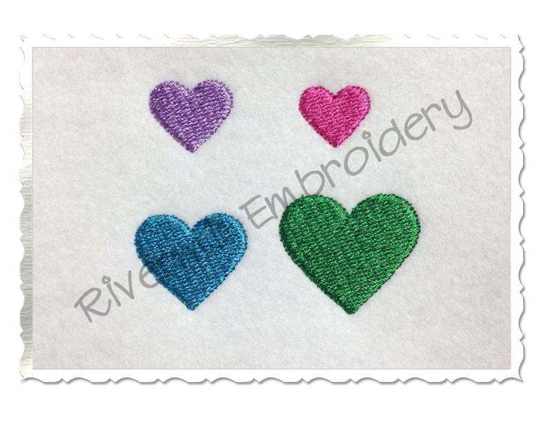 Mini Heart Machine Embroidery Design - 4 Sizes photo