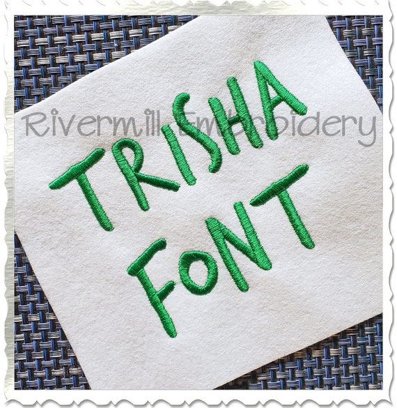 Large Hadley Machine Embroidery Alphabet Font Designs