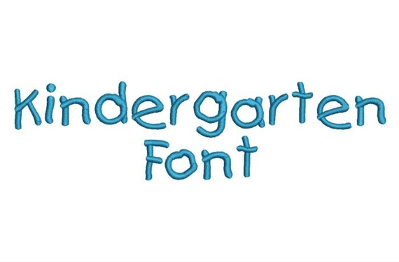 Kindergarten Machine Embroidery Font Monogram Alphabet - 3 Sizes