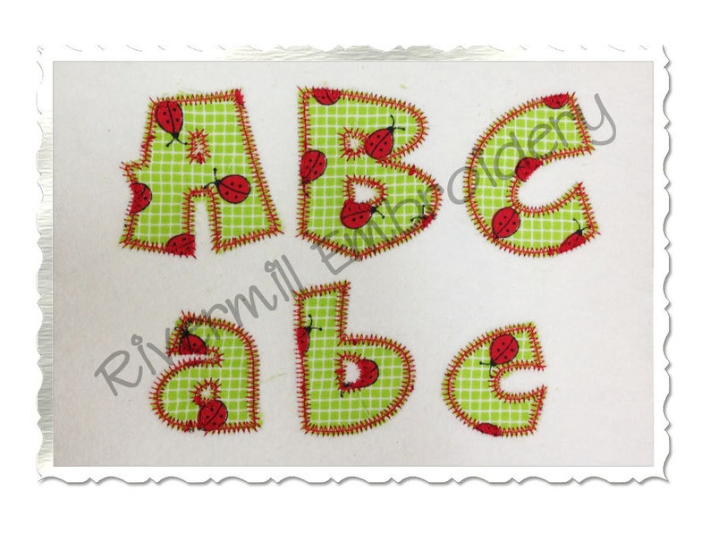 Small inch cricket zig zag applique machine embroidery font etsy