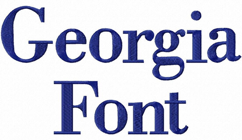 Georgia Machine Embroidery Font Alphabet - 3 Sizes photo