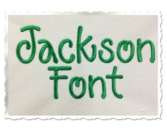Jackson Machine Embroidery Font Monogram Alphabet - 3 Sizes