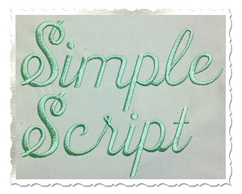 Simple Script Machine Embroidery Font Alphabet - 3 Sizes photo