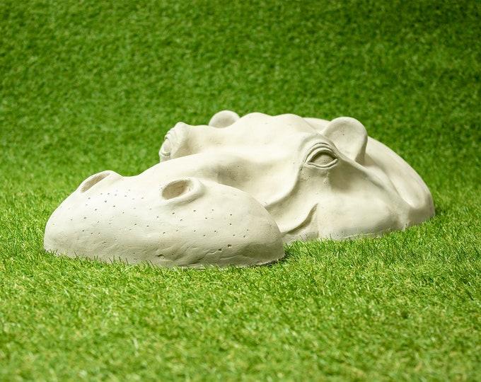 Bronze// Resin Garden Ornaments 7th Wedding Anniversary Gift Hippo Sculptures