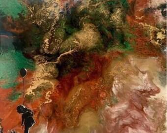 Matter #2 Fluid Resin Art Painting