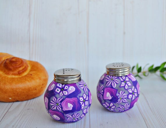 Sale!!Purple Salt and pepper sets, Glass kitchen decoration, Housewares,  Home sweet home, Purple Kitchen accessories, Table setting