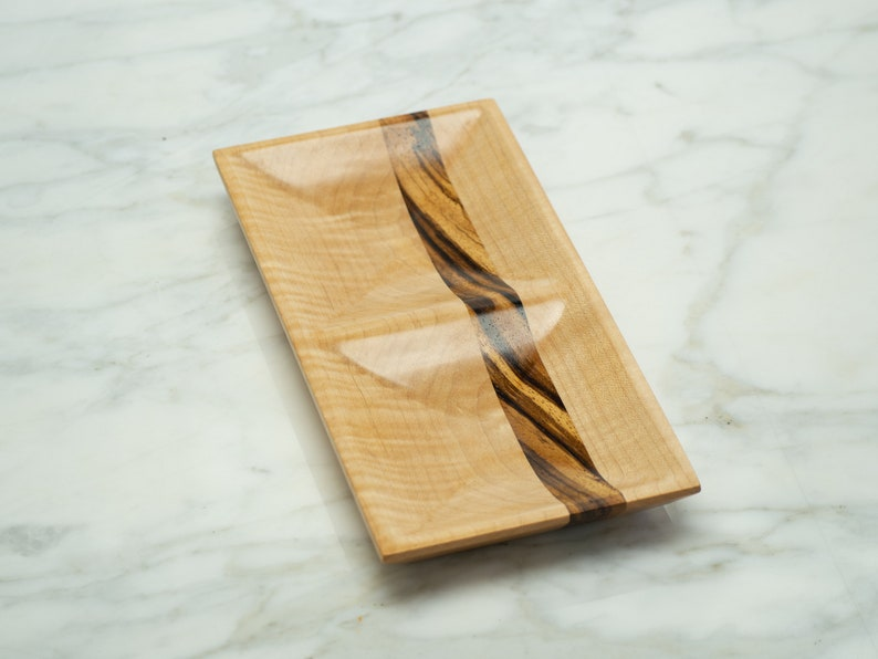 Curly Maple and Zebrawood Jewelry Dish Catch-all