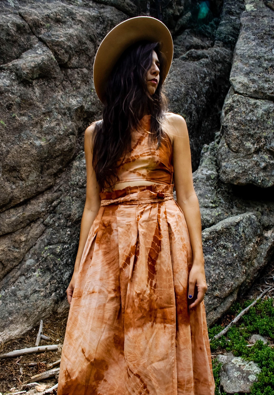 The Primrose Midi Set Boho Summer Festival  Paper Bag waist skirt SKIRT ONLY