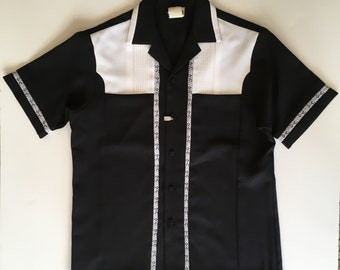 a7b46ec9 Vintage IOLANI EXECUTIVE Hawaii Hawaiian Men's Black Camp Shirt