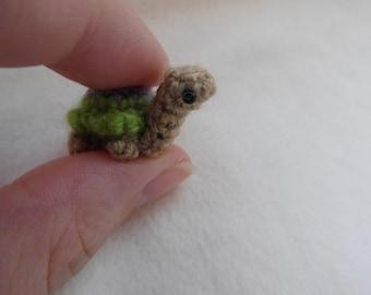 Oh, so tiny Turtle crochet PATTERN - PDF instructions