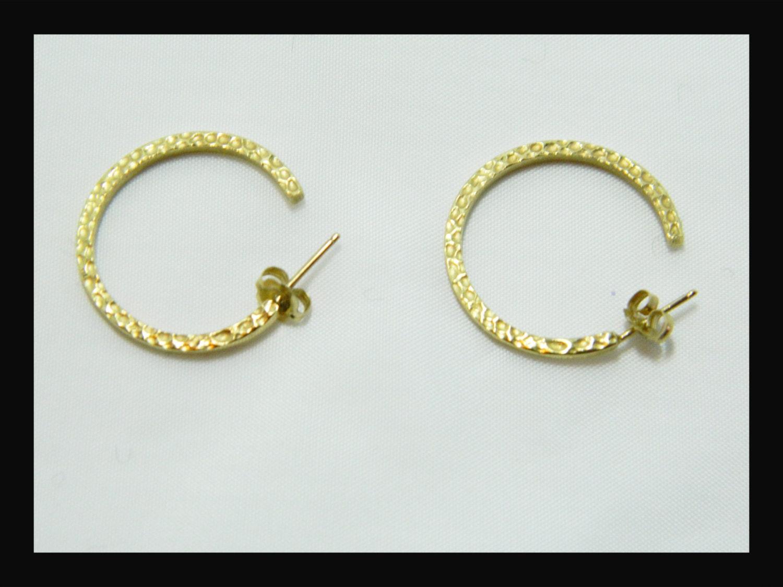 Gold Jewelry14 K Yellow Goldgold Earrings14 K Jewelrysolid 14 K Goldhammered Gold Earringsmodern Stylegold