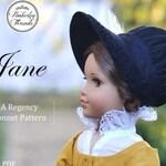 PDF Pattern Jane Regency Bonnet for 18 inch dolls such as American Girl