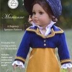 PDF Pattern Marianne Regency Spencer Jacket for 18 inch dolls