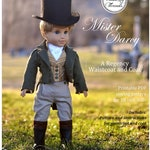 PDF Pattern Mr Darcy Regency Boy Doll Outfit Coat and Waistcoat for 18 inch dolls