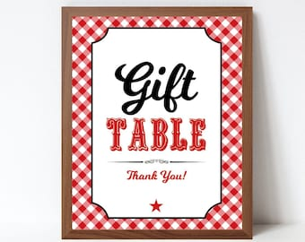 Bbq Gift Table Printable Sign, Baby Q Shower, Baby Q Gifts Sign, BBQ Baby Shower Sign, Printable Pdf File, INSTANT DOWNLOAD