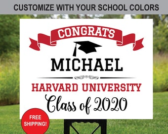 Graduation Yard Sign Etsy