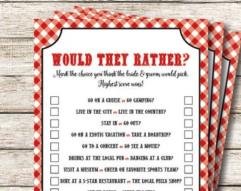 would they rather bridal shower game i do bbq games printable bbq couples wedding shower games bridal shower games printable pdf file