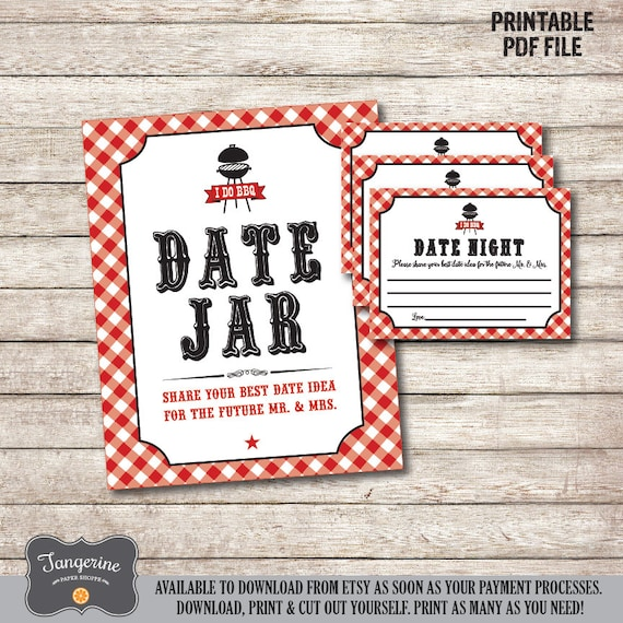 I Do Bbq Games Date Night Jar Sign Date Night Ideas Cards