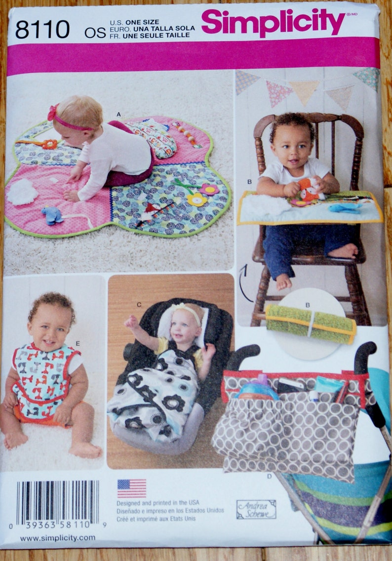 6417619ea546d New Simplicity Baby Accessories Pattern 8110