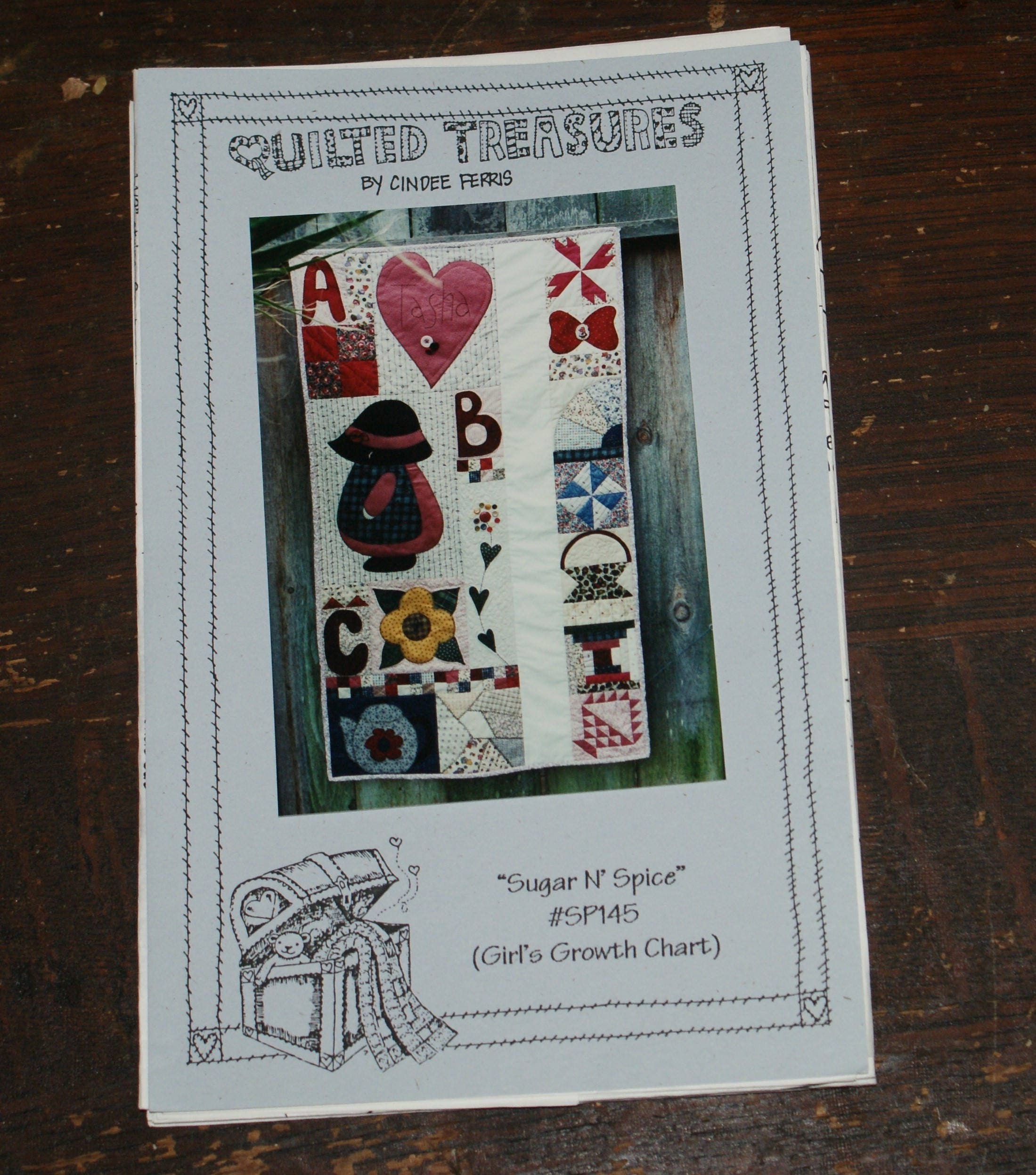 Vintage Quilt Pattern Uncut Quilted Treasures By Cindee Etsy