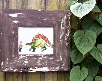 8x10 Rustic Wood Picture Frame Made From An Old Pennsylvania Church Door