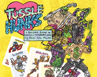 TUSSLE HUNKS muscular card game