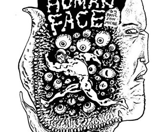 Get the Human Face b+w Digital Comic