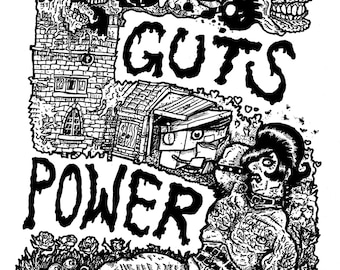 Guts Power 5 comic, A5, B+W