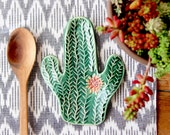 Cactus Succulent Spoon Rest - Saguaro Cactus - Jewelry Tray Soap Dish - READY TO SHIP