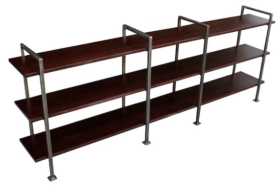 custom console table height urban modern metal bookcase. Black Bedroom Furniture Sets. Home Design Ideas