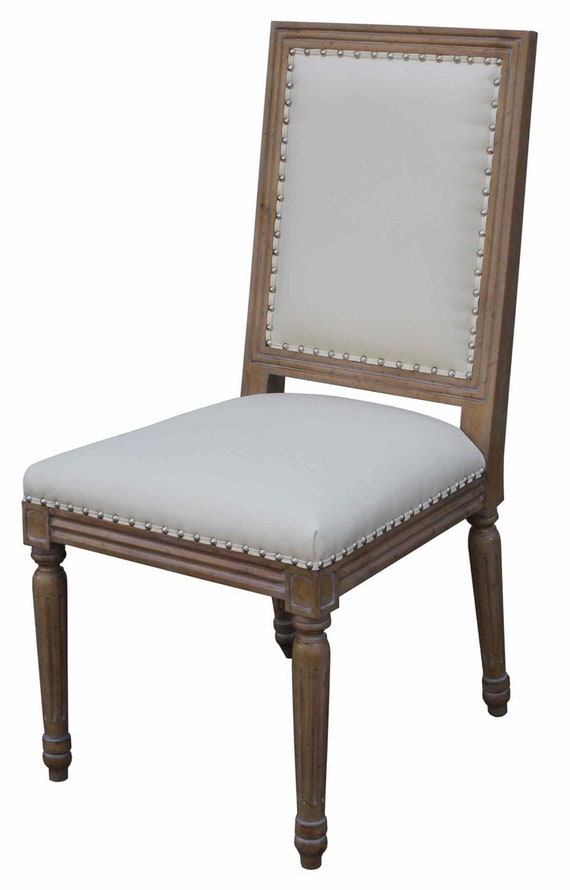 upholstered chairs for dining room | Classic Custom Wood and Upholstered Dining Chair