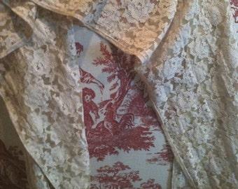 Vintage Scarf Chantilly Sepia Color Scarf