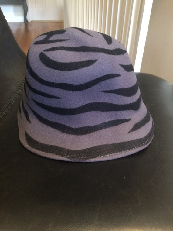 Vintage Daniele Meucci Wool Felt Tiger Striped Bu… - image 1