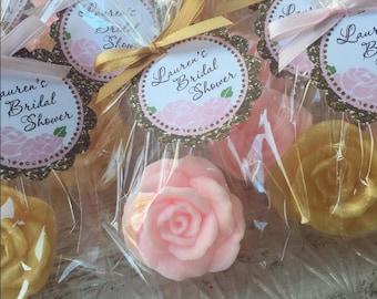 30 ROSE SOAP FAVORS - Rose Bridal Shower Favors, Soap Roses, Wedding Soap Favors, Cottage, Valentine's Day, Mothers Day, Kate Spade Inspired