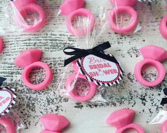 25 ring soaps favors bridal shower favor wedding favor engagement mothers day bachelorette bling diamond ring handmade soap