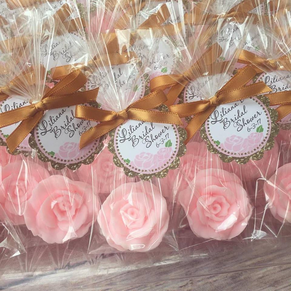 10 ROSE SOAP FAVORS Rose Bridal Shower Favors Soap Roses