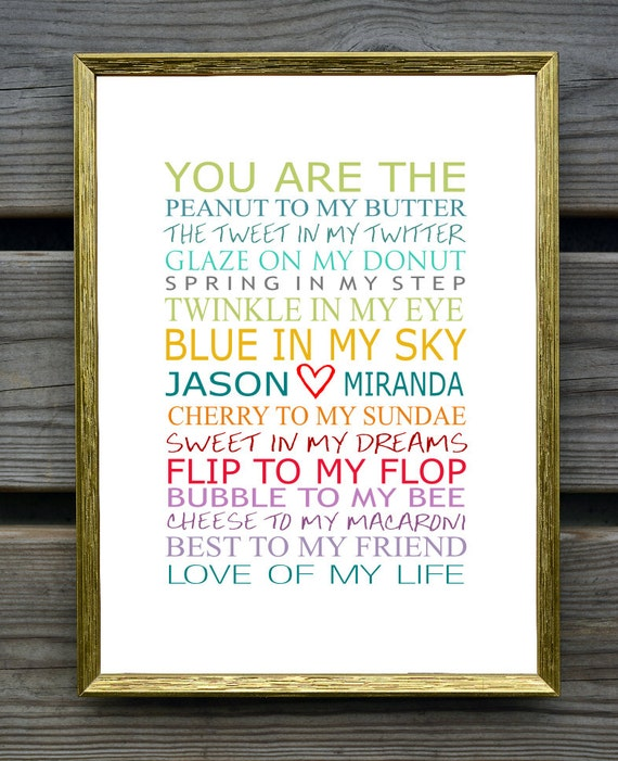 You Are The Peanut To My Butter Personalized Couples Art Etsy