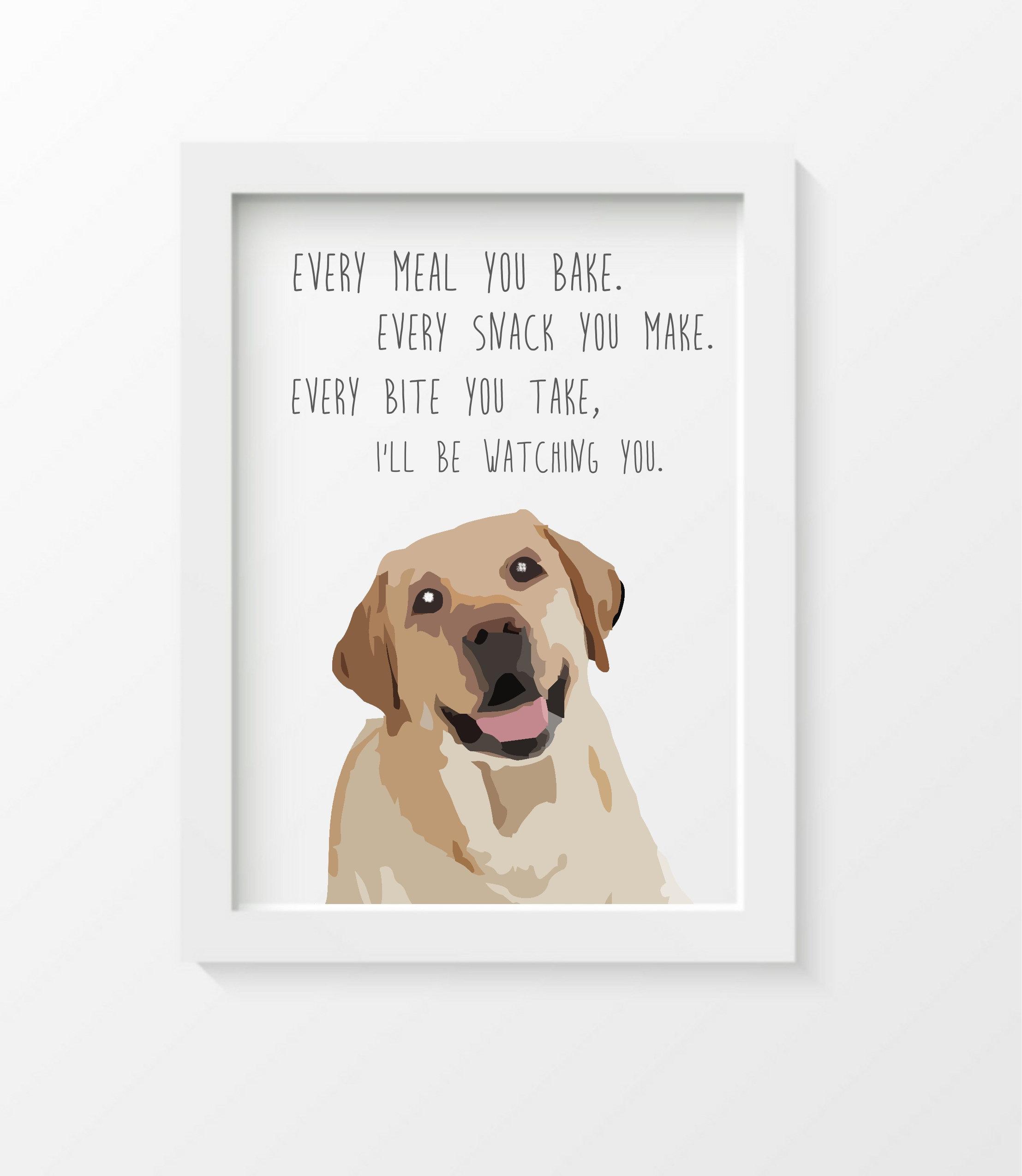 Yellow Labrador Cute Lab Puppy Dog Giclee HD Vinyl Wall Art Poster Decal Sticker