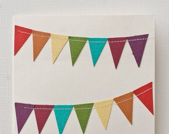 Rainbow Birthday Card, Happy Birthday Card, Blank Notecard, Colorful Greeting Card, Hand Cut Stationery, Every Occasion Card