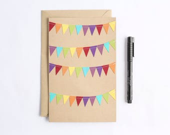 Large Birthday Card, Cheer Up Card, Oversized Stationery, Big Greeting Card, Colorful Notecard, from all of us, Giant Rainbow Stationary,