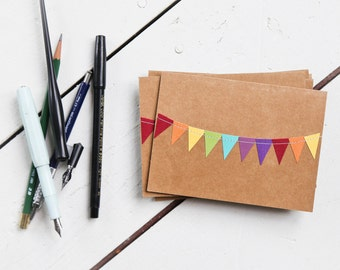 rainbow stationery, thank you cards, gifts under 10, hostess gifts, teacher gifts, colorful notecards, unique paper goods, stocking stuffers