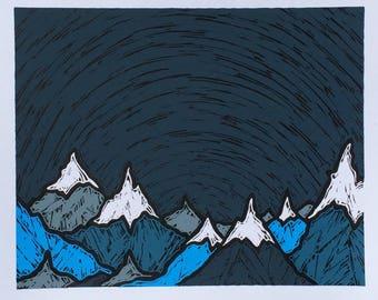 Cascades, 2017 (Original Hand-pulled Screen Print)