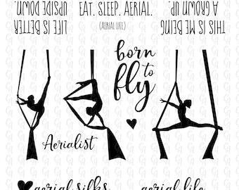 Aerial Silks bundle - SVG cut file