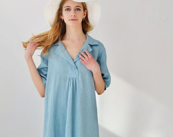 Linen Dress/Eco Friendly Dress/Casual Dress Linen /Boho Dress/ Organic Dress/ Flax Clothing Women/ Sundress Linen/ Linen Midi Dress